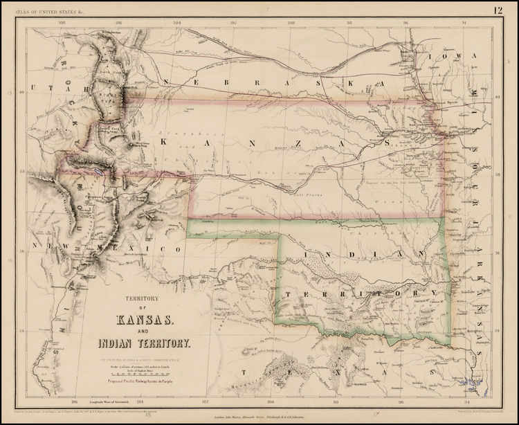 Territories Variously Assigened to the Cherokee Nation West of the Mississippi River in the 19th Century