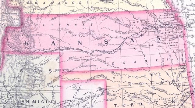 Kansas Territory in 1857