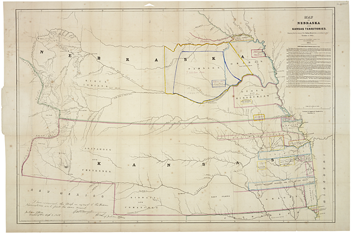 Kansas and Indian Territory late 1850s
